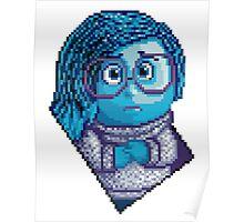 Sadness - pixel art Poster