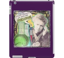 Popular Science: M. Curie (French) distressed iPad Case/Skin