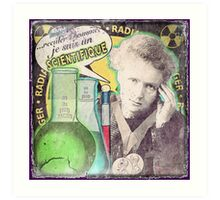 Popular Science: M. Curie (French) distressed Art Print