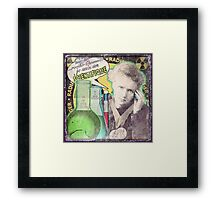 Popular Science: M. Curie (French) distressed Framed Print