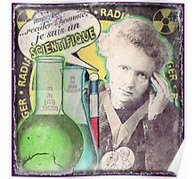 Popular Science: M. Curie (French) distressed Poster