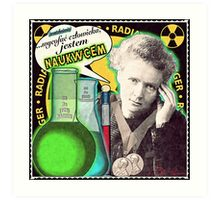 Popular Science: M. Curie (Polish) Art Print