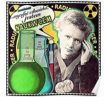 Popular Science: M. Curie (Polish) Poster
