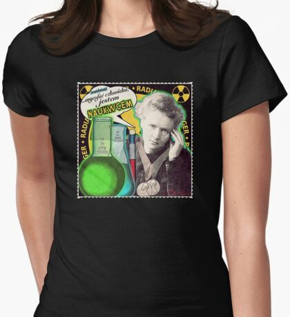 Popular Science: M. Curie (Polish) Womens Fitted T-Shirt