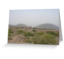 Man in the mountains Greeting Card