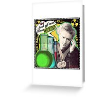 Popular Science: M. Curie (English) Greeting Card