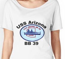 USS Arizona (BB-39) Crest Women's Relaxed Fit T-Shirt