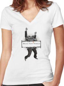 Brave new world Women's Fitted V-Neck T-Shirt