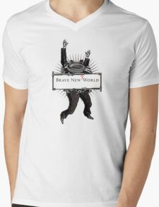 Brave new world Mens V-Neck T-Shirt
