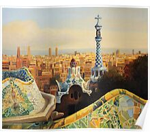Barcelona Park Guell Poster