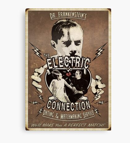 The Electric Connection (Old Postcard ) Canvas Print