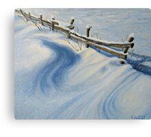 Ice Glitter Canvas Print
