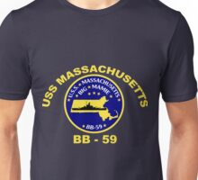 USS Massachusetts (BB-59) for Dark Backgrounds Unisex T-Shirt