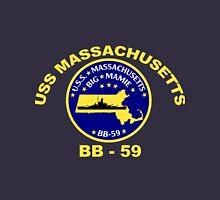 USS Massachusetts (BB-59) for Dark Backgrounds Unisex T-Shirt