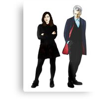 The Doctor and Clara Metal Print