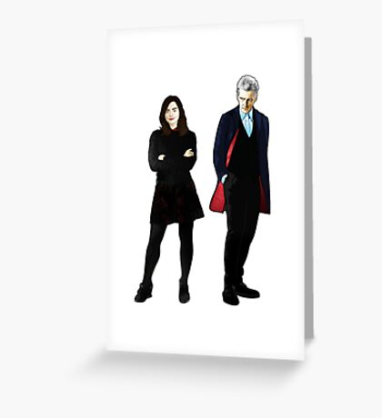 The Doctor and Clara Greeting Card