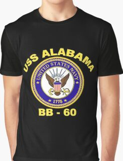 USS Alabama (BB-60) for Dark Backgrounds Graphic T-Shirt