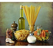 Aglio, olio peperoncino (garlic, oil, chili) noodles Photographic Print