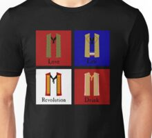 Men of the Barricade, now with added Winecask! Unisex T-Shirt