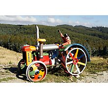 Coloured Tractor Photographic Print