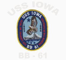 USS Iowa (BB-61) for Dark Colors One Piece - Short Sleeve
