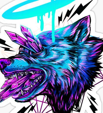 Crystal Wolf  Sticker