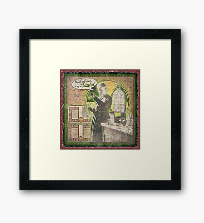 Popular Science: Marie Curie (distressed) Framed Print