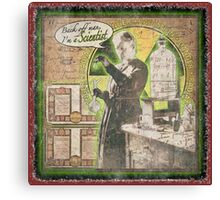 Popular Science: Marie Curie (distressed) Canvas Print