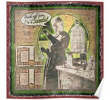 Popular Science: Marie Curie (distressed) Poster