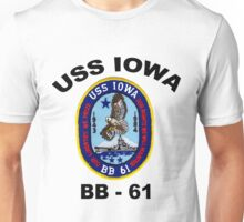 USS Iowa (BB-61) Crest Unisex T-Shirt