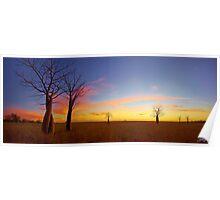 The Kimberley Plains Sunset Poster