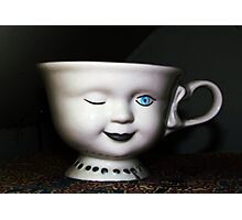 Winking Teacup Photographic Print