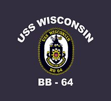 USS Wisconsin (BB-64) Crest for Dark Colors Unisex T-Shirt