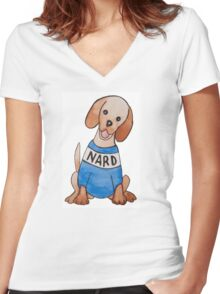 Nard Dog Women's Fitted V-Neck T-Shirt