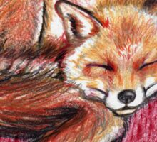 Fox sleeping Sticker