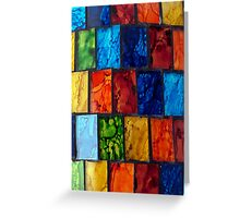 Coloured Tiles Greeting Card