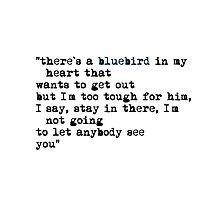 Blue bird quote by fuka-eri