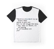 Blue bird quote Graphic T-Shirt