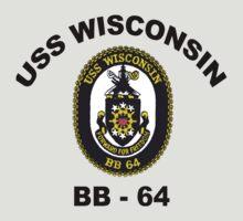 USS Wisconsin  (BB-64) Crest by Spacestuffplus