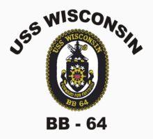USS Wisconsin  (BB-64) Crest Baby Tee