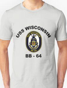 USS Wisconsin  (BB-64) Crest T-Shirt