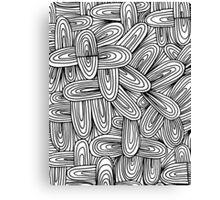 doodle patterned Canvas Print