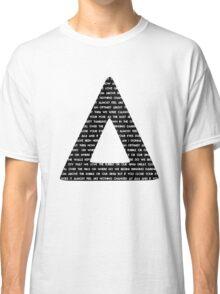 Bastille Triangle - Pompeii lyrics Classic T-Shirt