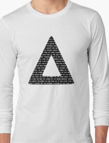 Bastille Triangle - Pompeii lyrics Long Sleeve T-Shirt