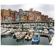 Bermeo Seaport Poster