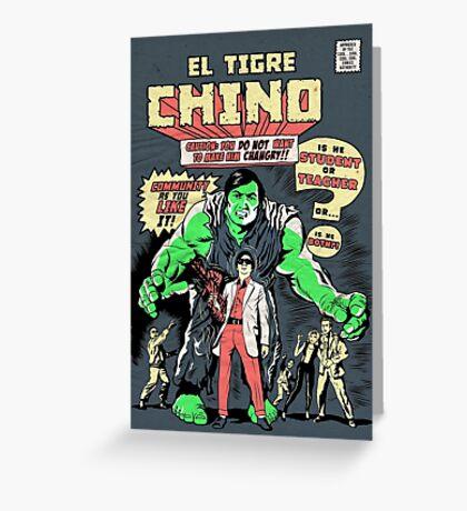 El Tigre Chino Greeting Card