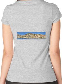 Symi Town Women's Fitted Scoop T-Shirt