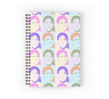 Multi Talking Head Pattern Spiral Notebook