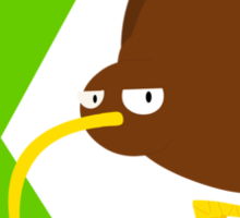 k for kiwi Sticker