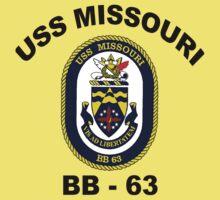 USS Missouri (BB-63) Crest Baby Tee